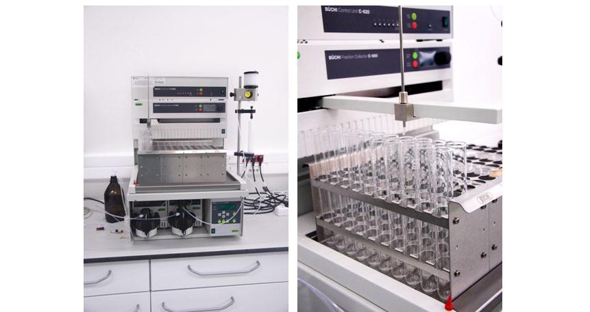 Chromatograf preparatywny (BUCHI Labotechnik AF SEPACORE X10)